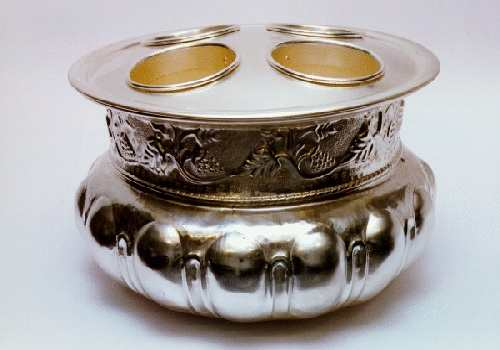 silver-plated Cache pot  - art. 411